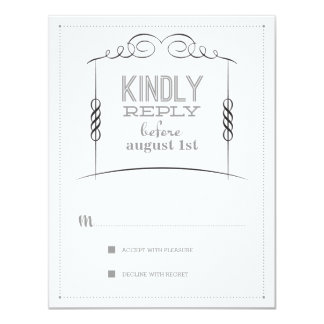 Under the Chuppah Jewish Wedding Suite Reply Card