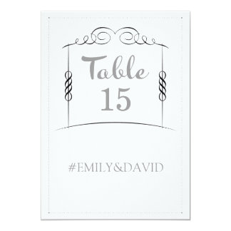 Under the Chuppah Jewish Wedding Table Numbers Card