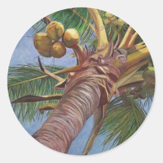 Under the Coconut Tree Classic Round Sticker