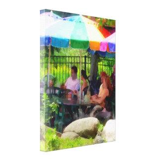 Under the Colorful Umbrellas Canvas Print