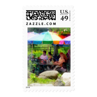 Under the Colorful Umbrellas Postage