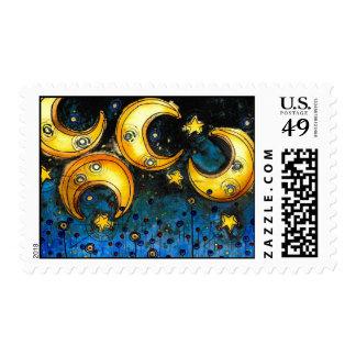 Under the Compass Moon (Dark Sky) Stamp