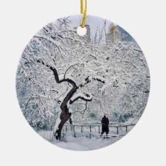 Under The Cover Of Snow Ceramic Ornament