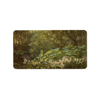 Under the Dock Leaves by Doyle, Victorian Fairies Address Label