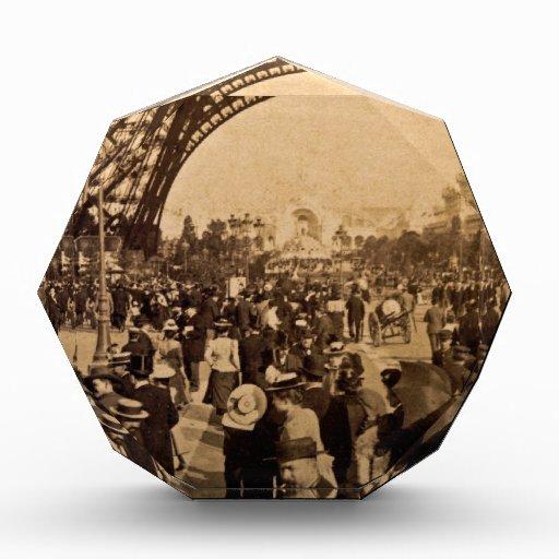Under the Eiffel Tower 1900 Paris Expo Vintage Award