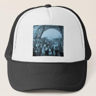 Under the Eiffel Tower 1900 Paris Exposition Cyan Trucker Hat