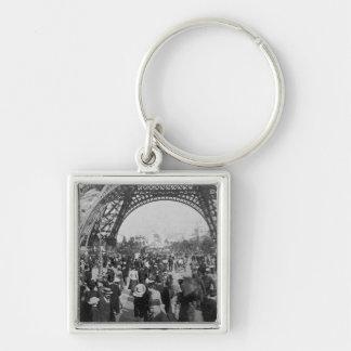 Under the Eiffel Tower 1900 Paris Exposition Keychain