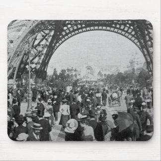 Under the Eiffel Tower 1900 Paris Exposition Mouse Pad