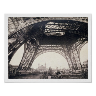 Under the Eiffel Tower, before ascending, from 'L' Poster