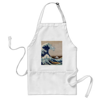 Under the great wave adult apron