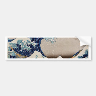 Under the great wave car bumper sticker