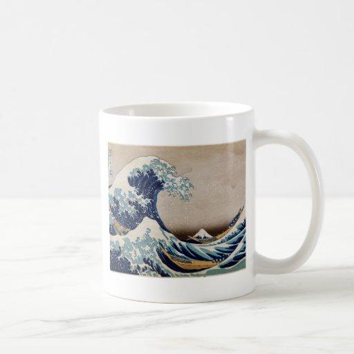 Under The Great Wave Classic White Coffee Mug Zazzle