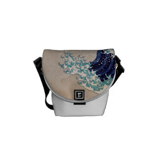 Under the Great Wave off Kanagawa Messenger Bag