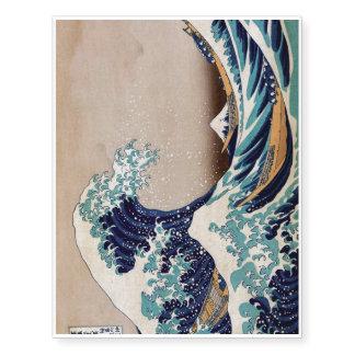 Under the Great Wave off Kanagawa Temporary Tattoos