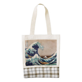 Under the Great Wave off Kanagawa Zazzle HEART Tote Bag