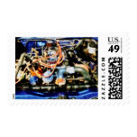 Under the Hood Abstract Postage Stamp