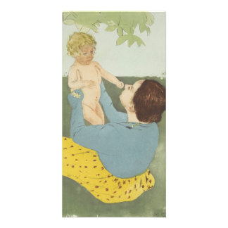 Under the Horse Chestnut Tree by Mary Cassatt Card