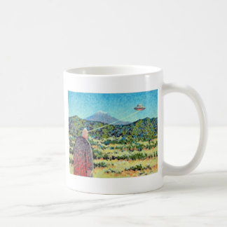 Under the influence of subtle alien forces. coffee mug