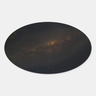Under the Milky-Way Oval Sticker