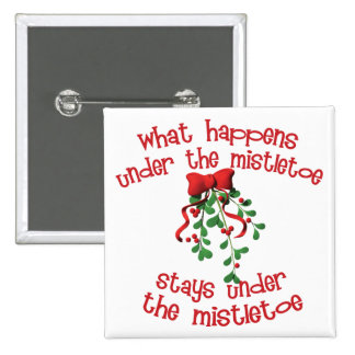 Under the Mistletoe Pinback Button