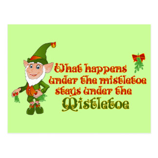Under The Mistletoe Postcard