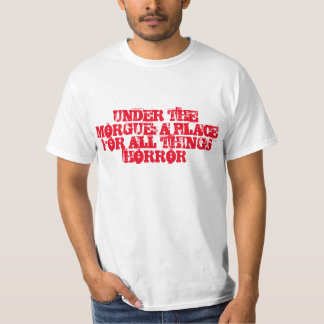 Under The Morgue Shirt (White and Red)