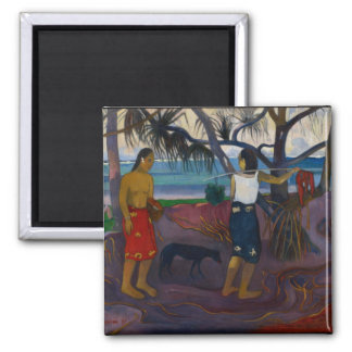 Under the Pandanus, 1891 (oil on canvas) 2 Inch Square Magnet