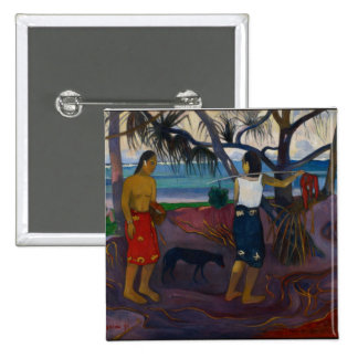 Under the Pandanus, 1891 (oil on canvas) 2 Inch Square Button