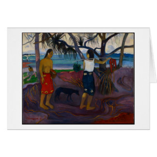 Under the Pandanus, 1891 (oil on canvas) Card