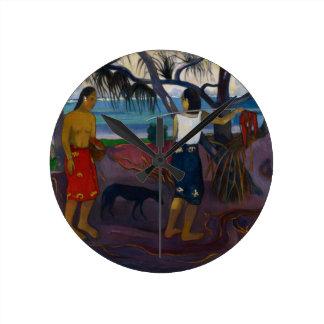Under the Pandanus, 1891 (oil on canvas) Round Clocks