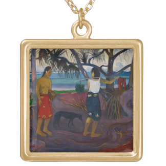 Under the Pandanus, 1891 (oil on canvas) Gold Plated Necklace