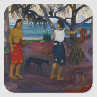 Under the Pandanus, 1891 (oil on canvas) Square Sticker