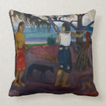 Under the Pandanus, 1891 (oil on canvas) Throw Pillow