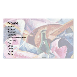 Under The Pergola At Naples By Boccioni Umberto Double-Sided Standard Business Cards (Pack Of 100)