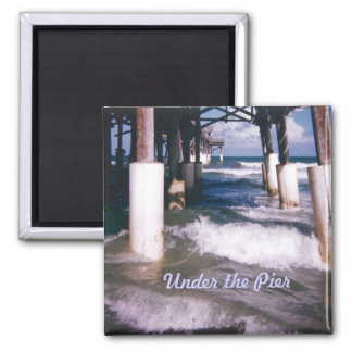 Under the Pier 2 Inch Square Magnet