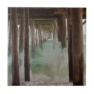 Under The Pier by Shirley Taylor Tile