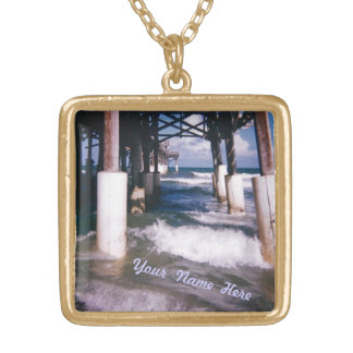 Under the Pier Custom Gold Plated Necklace