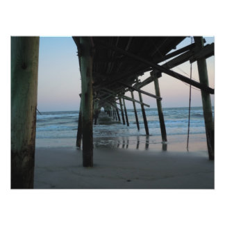 Under the Pier - Oak Island, NC Photographic Print