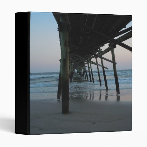 Under the Pier - Oak Island, North Carolina Vinyl Binders