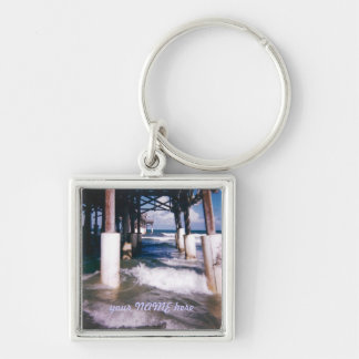 Under the Pier Personalized Keychain