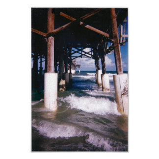 Under the Pier Print on Canvas
