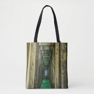 Beach Themed Under the Pier Tote Bag