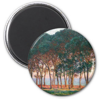 Under the Pine Trees at the End of the Day 2 Inch Round Magnet