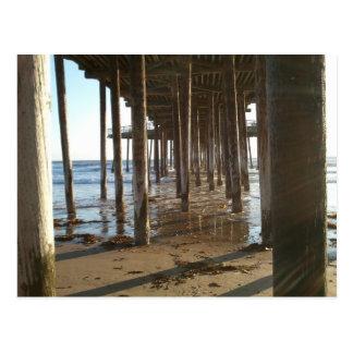 Under The Pismo Beach Pier Postcard