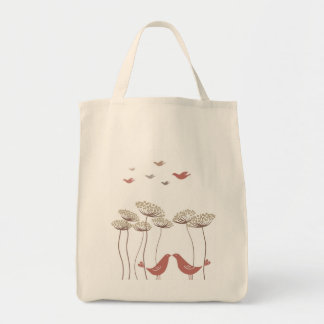 Under The Queen Anne's Lace Grocery Tote