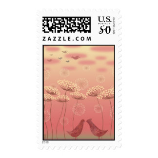 """Under The Queen Anne's Lace"" Illustration Stamp"