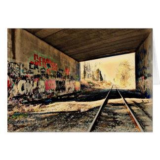 Under the Railroad Bridge Greeting Card
