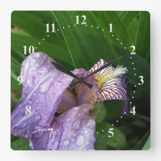 under the rain square wall clock