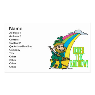 Under The Rainbow Double-Sided Standard Business Cards (Pack Of 100)