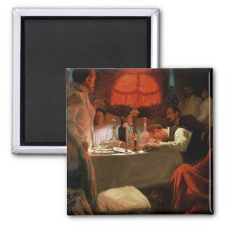 Under the Red Light, c.1910 2 Inch Square Magnet